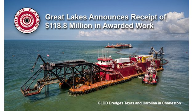 Great Lakes announces receipt of $118.8 Million in awarded work