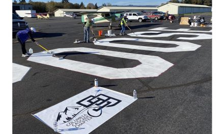 Columbia Cascade Ninety-Nines bring airmarking to Scappoose Industrial Airpark