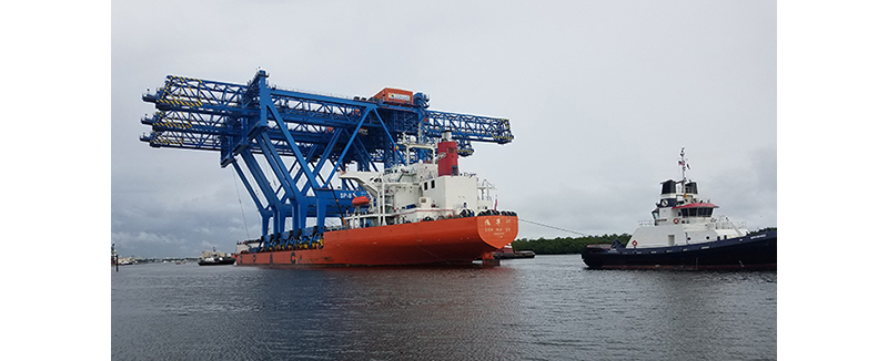 Liftech delivers largest low profile ship-to-shore cranes to Port Everglades