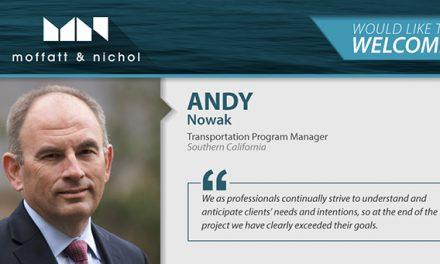 Moffat Nichol welcomes Andy Nowak, Transportation Program Manager