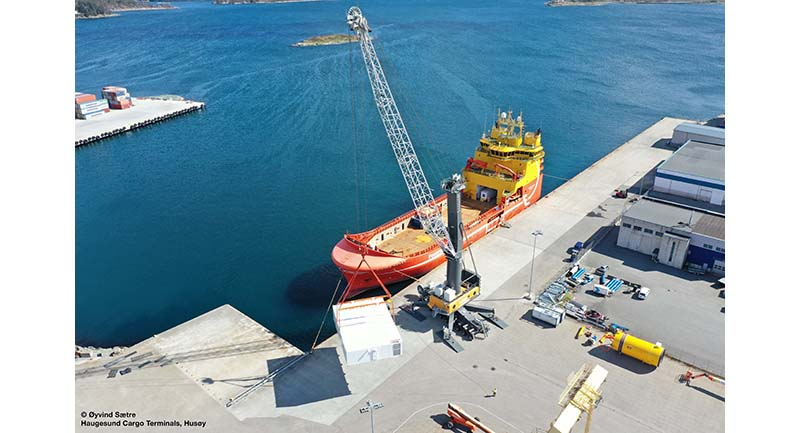 Liebherr's LHM 550 increases business noticeably at Norway cargo terminal