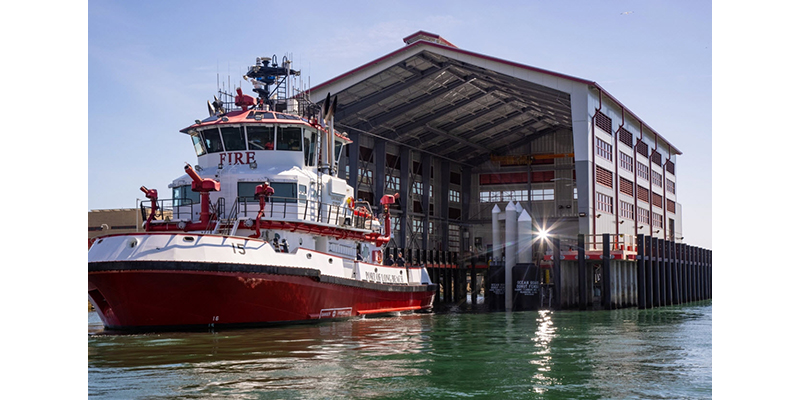 Port of Long Beach Fire Station 15 nears completion
