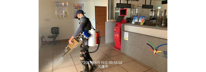 Hualien Port Affairs Branch handles environmental cleaning and disinfection operations around the port area in response to bovine nodular rash