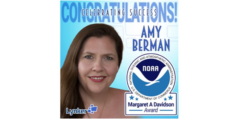 Lynker's Amy Berman receives prestigious Margaret Davidson award