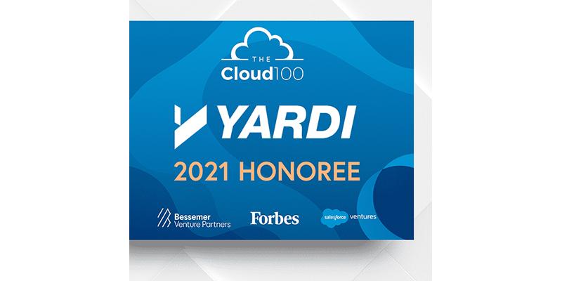 Yardi named again to prestigious Forbes Cloud 100 list