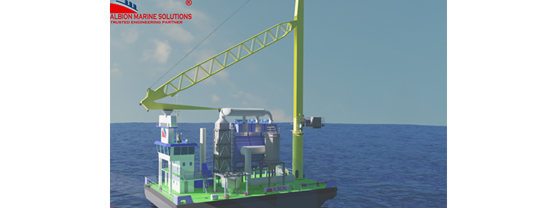 Scrubber Barge – Air abatement technology floating unit